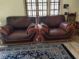 Sofa, furniture. Seating. Living area furniture. Leather sofa. Chairs.