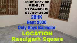 Big 1BHK House ONLY BOYS BACHELOR Near Rasulgarh Nh Side