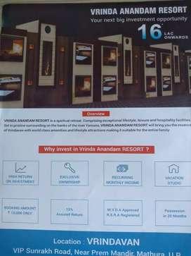 Invest ₹ 18 lakh & get ₹18000/- pm for furnished1 bhk near PremMandir