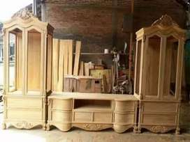 Almari kabinet kayu jati ready