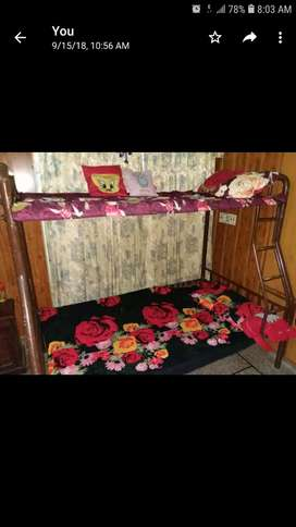 kids and adult double bed