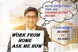 HOME BASED DATA ENTRY JOB PART TIME JOB
