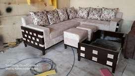 Sofa Set  Wooden Frame Design  L shape