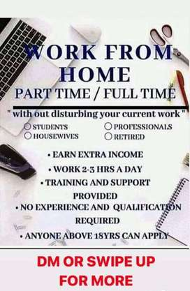 Work online part time full time
