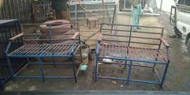 2xIron pipe sofa for sale
