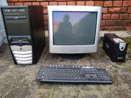 COMPAQ Moniter, PERX PENTIUM 4 SUPPORT CPU, INTEX  UPS, PANGU KEYBOARD