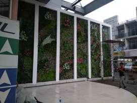 Pembuatan taman dingding vertical indoor outdor