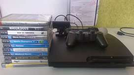 PS3 with move controller and games