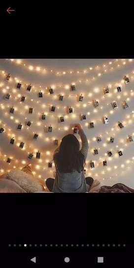 Lampu LED Tumbler Tumblr Dekorasi Gantung Dinding Polaroid Instax Foto