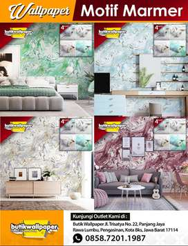 Wallpaper Dinding Motif Marble