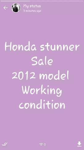 Honda stunner sale 2012 model