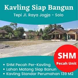 SHM Pcah Per-Kavling Langsung AJB: Kavling Tepi Jl. Rata Jogja - Solo