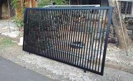 Bikin pagar baru dengan besi hollo
