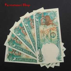 Uang kertas 500 Rupiah seri Rusa