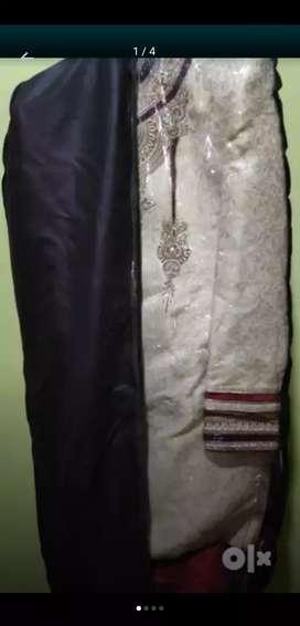 Sherwani cream colour