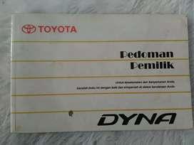 Toyota Dyna 2004 - manual book