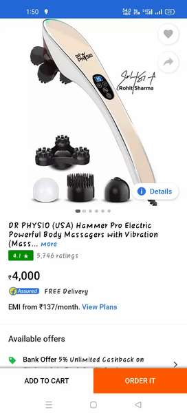 Dr. Physio massager new seal pack
