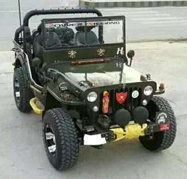 Oil green willy jeep for sale