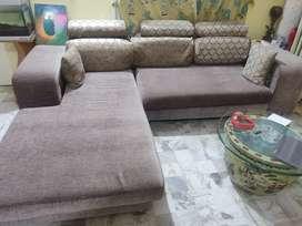 Sofa  L shape with a single.sofa