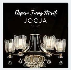 Lampu Gantung Minimalis Kristal Antik Klasik Hias Rumah Cafe Joglo
