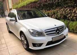 Low Driven Mercedes C Class 2014 Petrol 33k White, Shaman serviced