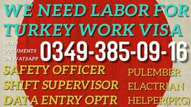 Available turkey work visa for different category