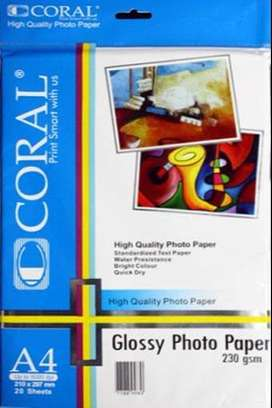 Kertas Photo Coral Glossy A4 230 Gr