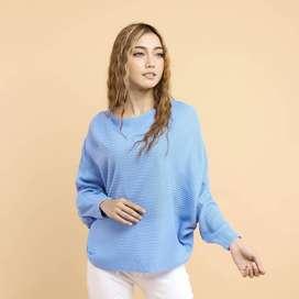 Sweater Rajut Wanita GK LASPERAL BIRU