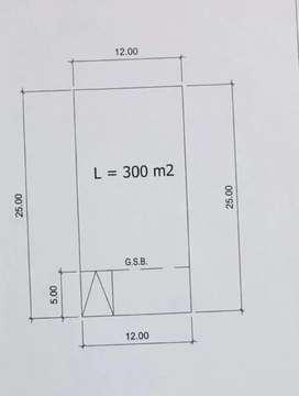 300m2 Jual kavling badan kotak Suvarna Alam