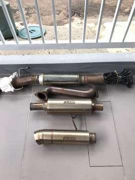 Downpipe,frontpipe,resonantor,muffler pajero sport dakar 2012