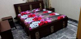 King Size Double Wooden Bedset For Sale