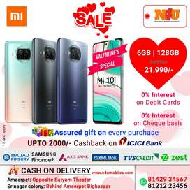 Mi 10i now available on emi basis at 0% at N4U mobiles with valentine