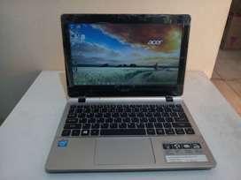 Netbook Pelajar Acer E3-111 Celeron Ram 2GB Hdd 500GB Siap Pakai