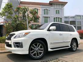 Lexus LX570 F-Sport 2010 White On Black Km50rb Antik Bodykit DP Ringan