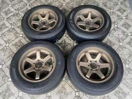 TE37 R18 Ban Dunlop Pajero,Fortuner,Everest,Ranger,Dmax,Mux