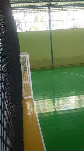 Pemasangan lapangan futsal dan service lapangan futsal