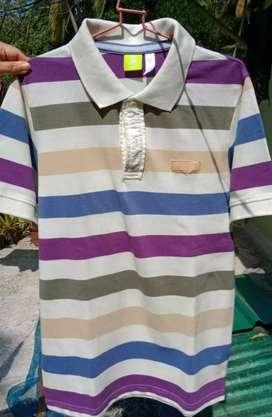 New Adidas Striped Polo T-shirt