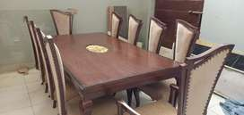 Rs 120000 Polish Dinning Table with 10 chairs
