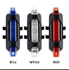 Lampu belakang sepeda model cas usb