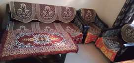 Sofa set with table and new condition