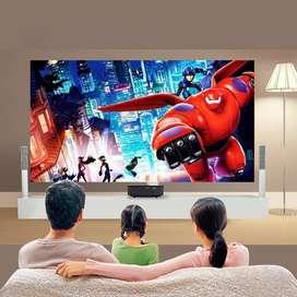 Diwali Offer-120 inch WiFi Projector Watch TV Movies on Big Screen Mob