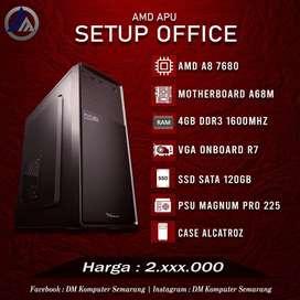PC Rakitan Office AMD A8 7680 RAM 4GB DDR3 SSD 120GB Ready