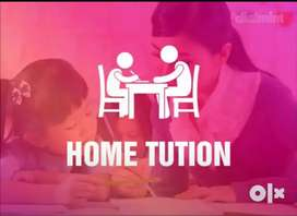 Home tution for classes 6-12 (English medium only).