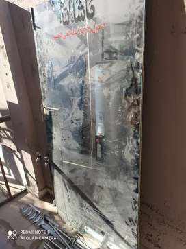 Glass door iron frane