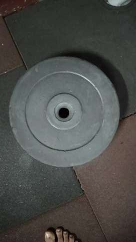 10kg weight plates (rubber)
