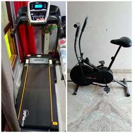 Treadmill hi treadmill / exercise cycle / Dumbbells