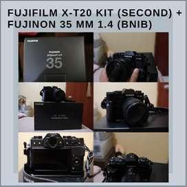 Fujifilm X-T20 + Lensa Kit dan Fujinon 35mm f1.4