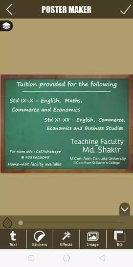 Tuitions Provided