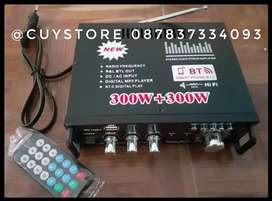 Junejour Bluetooth Eq Audio Amplifier Karaoke  Home Theater 600 Watt
