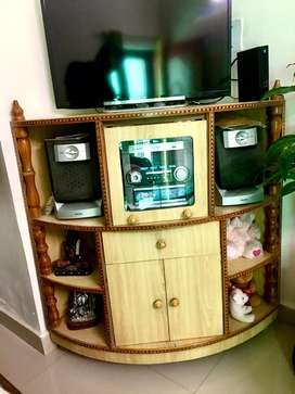 Philips 5 in one music player + speakers + corner tv stand for sale